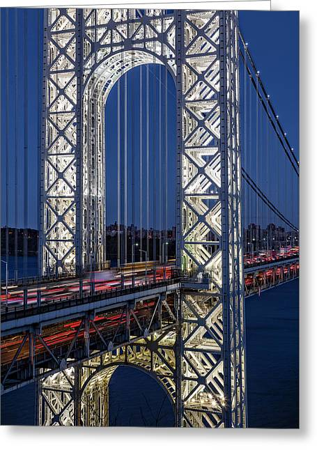 George Washington Bridge Gwb Greeting Card