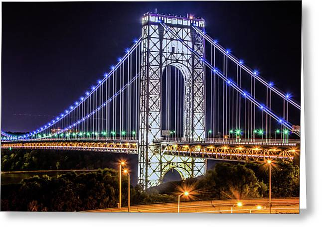 George Washington Bridge - Memorial Day 2013 Greeting Card