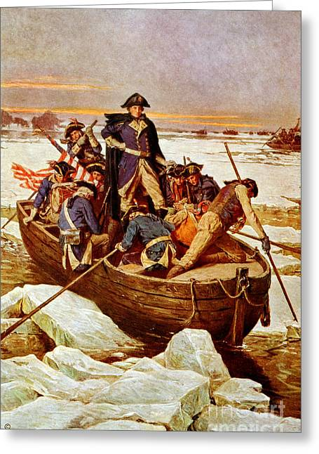 George Washington Crossing Greeting Card