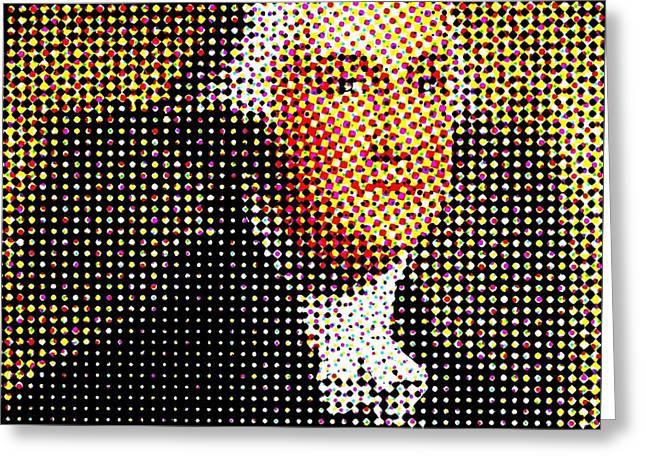 George Washington In Dots  Greeting Card