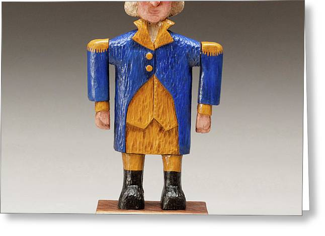 United States Sculptures Greeting Cards - George Washington Greeting Card by James Neill