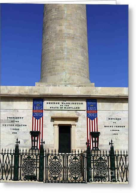 George Washington Monument Baltimore Greeting Card
