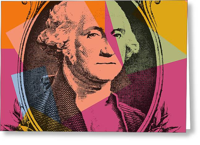 George Washington Pop Art Greeting Card