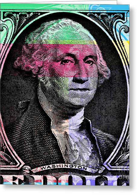 George Washington Pop Art Greeting Card