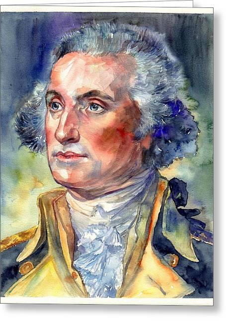 George Washington Portrait Greeting Card