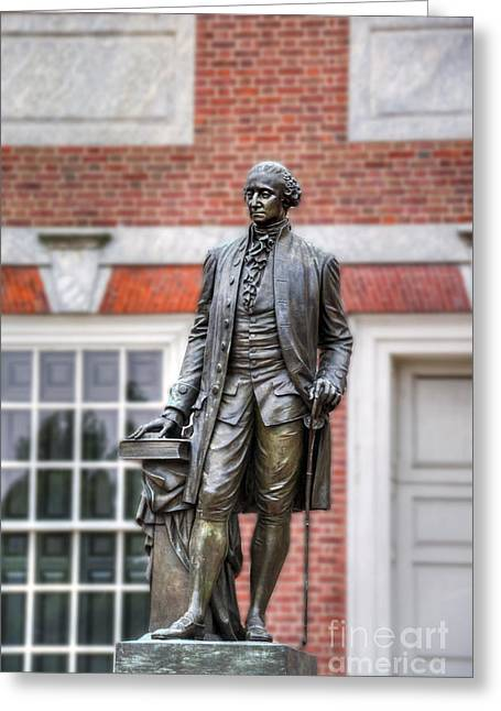 George Washington Statue Greeting Card by David Zanzinger