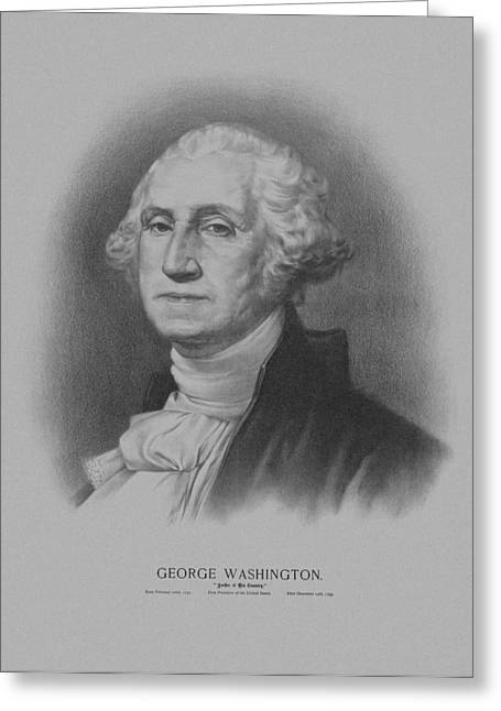 Founding Fathers Mixed Media Greeting Cards - George Washington Greeting Card by War Is Hell Store