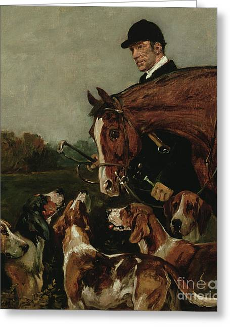 George Wateridge, Huntsman To The New Forest Buckhounds Greeting Card