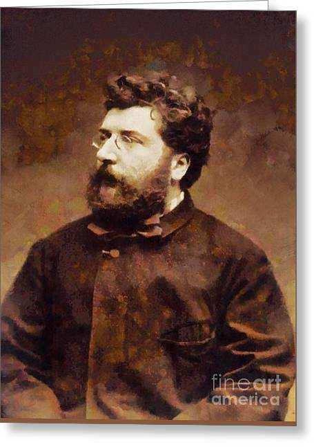 Georges Bizet, Composer By Sarah Kirk Greeting Card