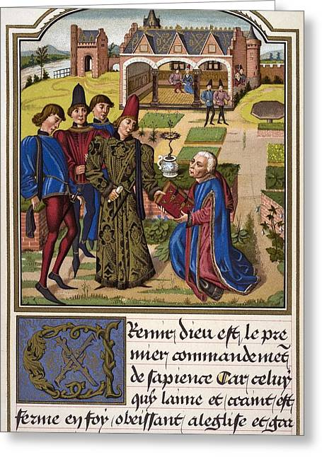 Georges Chastellain Died 1475 Greeting Card by Vintage Design Pics