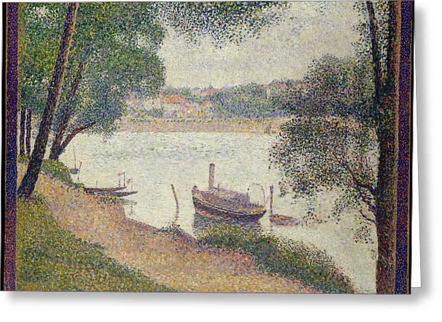 Georges Seurat    Gray Weather Grande Jatte Greeting Card