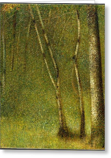 Georges Seurat    The Forest At Pontaubert Greeting Card