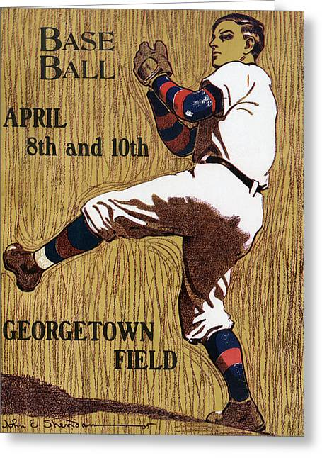 Georgetown Baseball Game Poster Greeting Card by American School