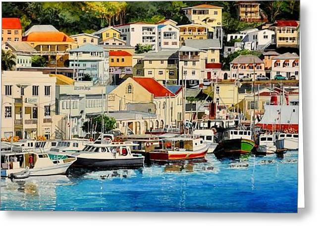 Georgetown Harbor, Grenada Greeting Card