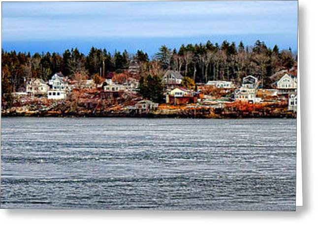 Georgetown Island Bay Point In Maine Greeting Card by Olivier Le Queinec