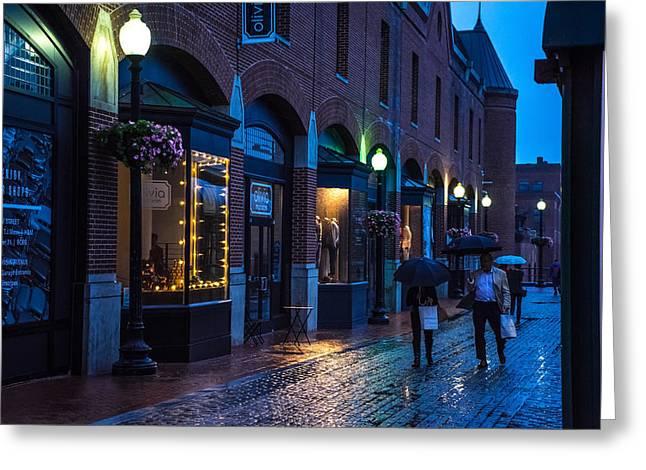 Georgetown Night Greeting Card