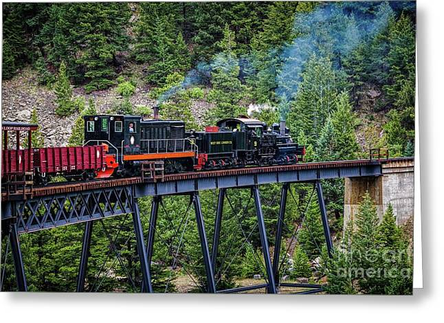 Georgetown Railroad At Devil's Gate Greeting Card by Jon Burch Photography