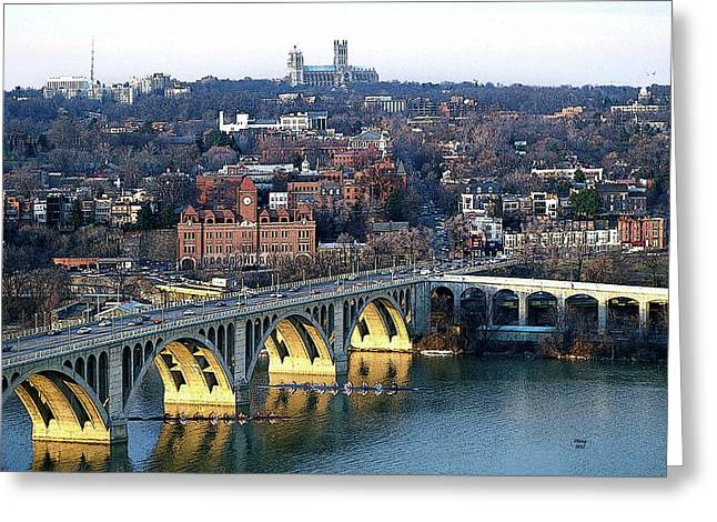 Georgetown University And Crew Team Greeting Card