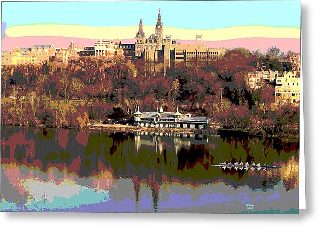Georgetown University Crew Team Greeting Card