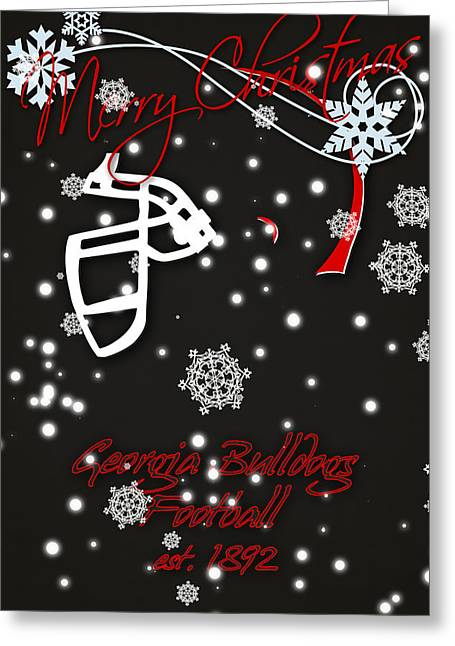 Georgia Bulldogs Christmas Card 2 Greeting Card by Joe Hamilton