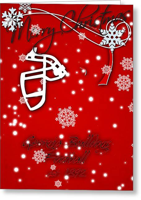 Georgia Bulldogs Christmas Card Greeting Card by Joe Hamilton