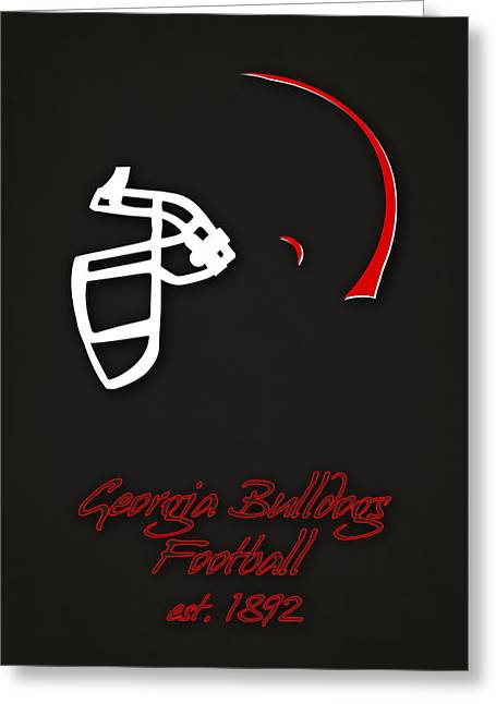 Georgia Bulldogs Helmet 2 Greeting Card by Joe Hamilton