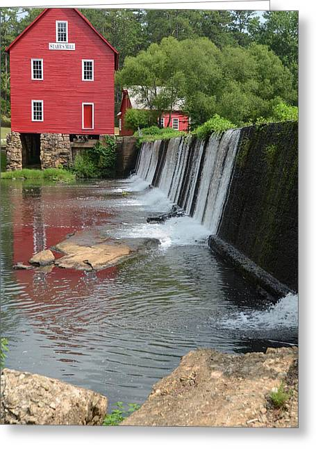 Georgia Mill Greeting Card by Margaret Palmer