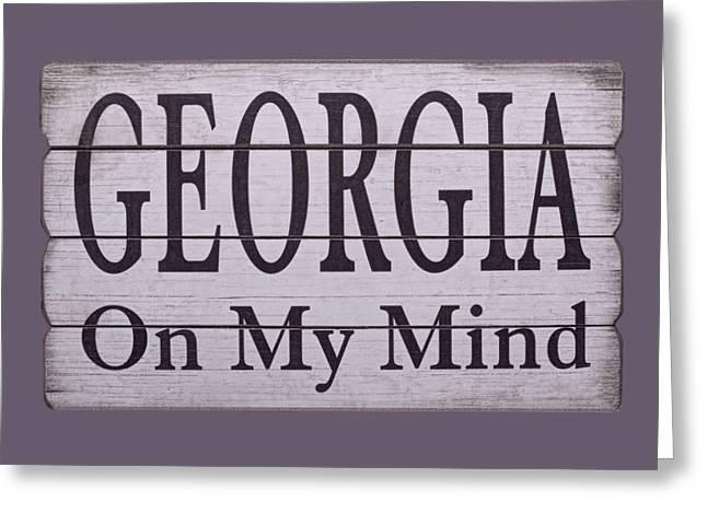 Georgia On My Mind Greeting Card