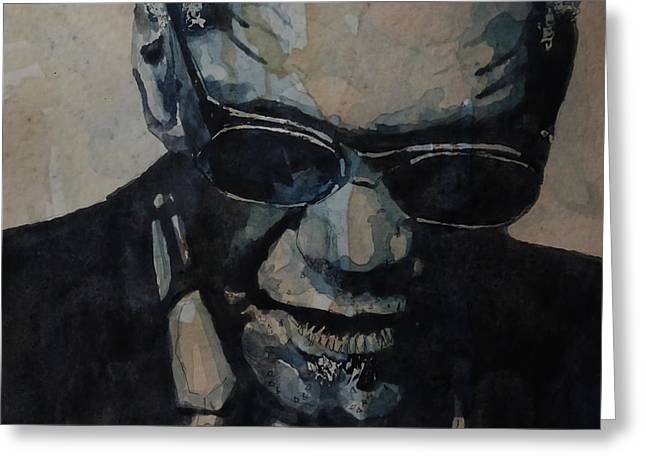 Georgia On My Mind - Ray Charles  Greeting Card by Paul Lovering