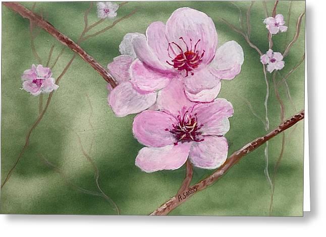 Georgia Peach Blossoms Greeting Card
