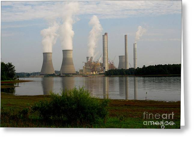 Georgia Power Plant Greeting Card by Donna Brown