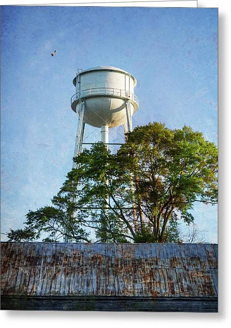 Greeting Card featuring the photograph Georgia Water Tower by Whitney Leigh Carlson
