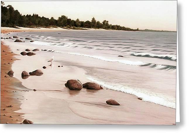 Georgian Bay Beach Greeting Card
