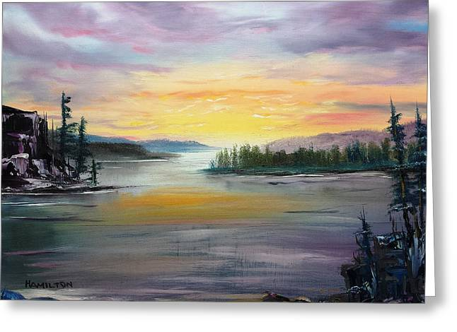 Georgian Bay Sunset Greeting Card