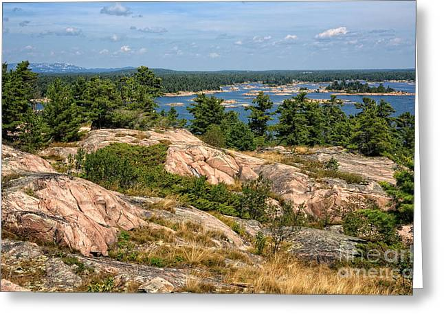 Georgian Bay Thirty Thousand Islands Greeting Card by Charline Xia