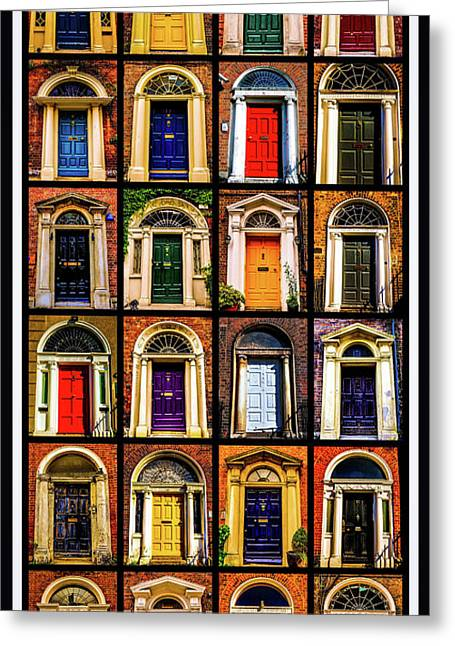 Georgian Doors Of Dublin 3 Greeting Card by Lexa Harpell