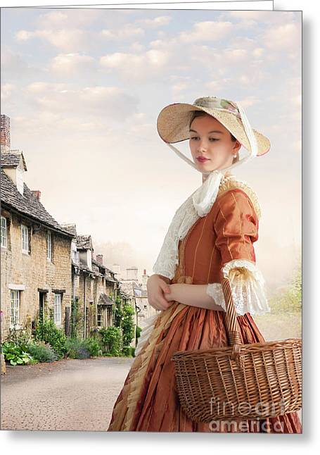 Greeting Card featuring the photograph Georgian Period Woman by Lee Avison