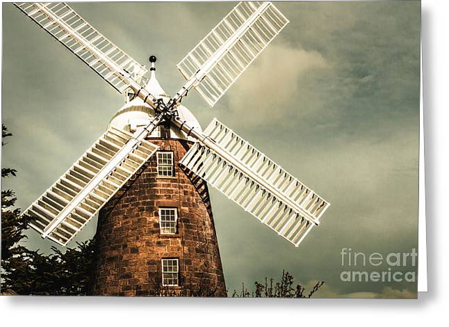 Greeting Card featuring the photograph Georgian Stone Windmill  by Jorgo Photography - Wall Art Gallery