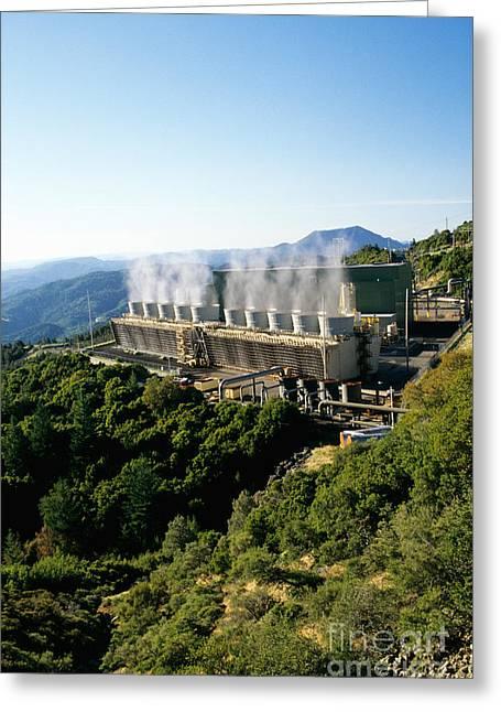Geothermal Power Plant Greeting Card
