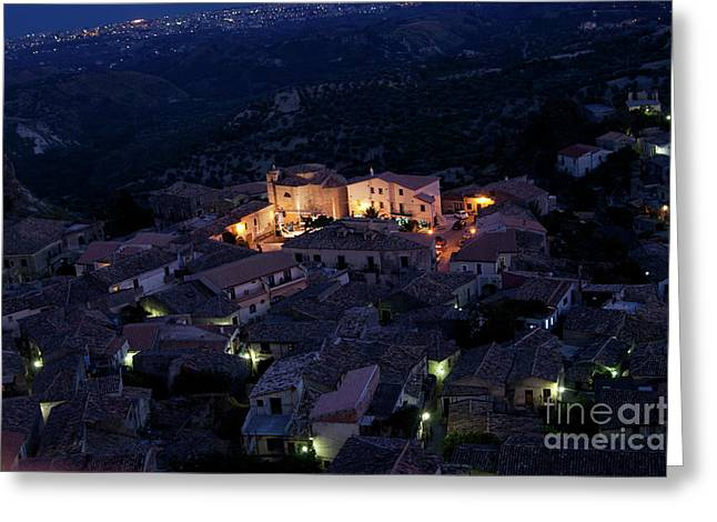 Italy, Calabria,gerace Greeting Card