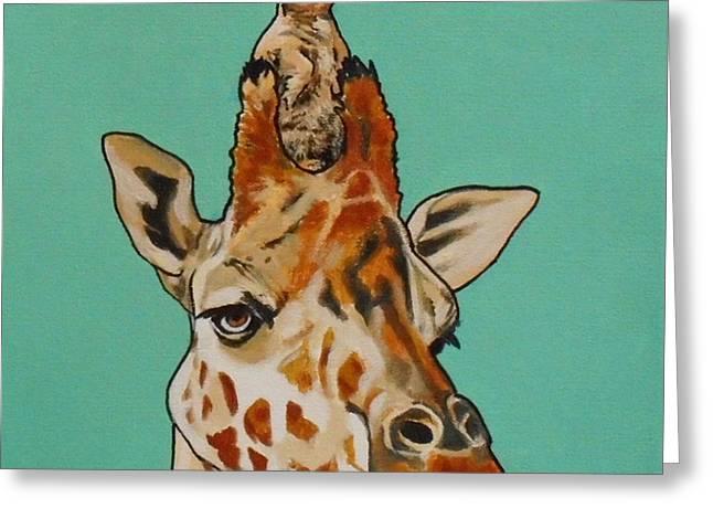 Gerald The Giraffe Greeting Card