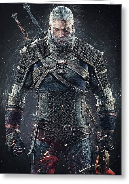 Geralt Of Rivia - Witcher  Greeting Card