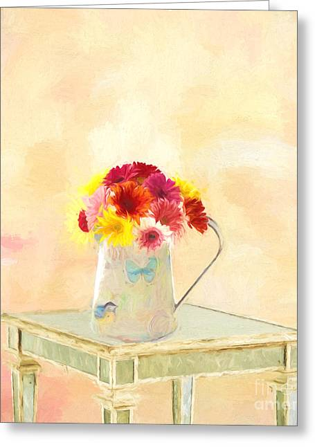 Gerbera Daisies  Greeting Card by Jim  Hatch