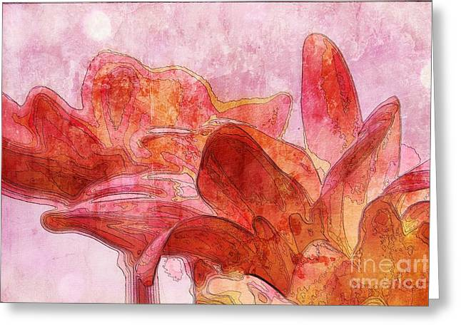 Gerberie - 010dt Greeting Card by Variance Collections