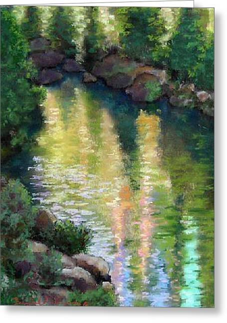 Gerle Creek Greeting Card by Brenda Williams