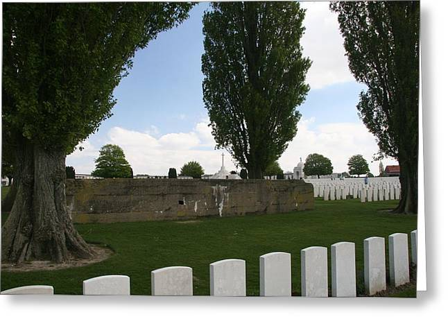 German Bunker At Tyne Cot Cemetery Greeting Card by Travel Pics