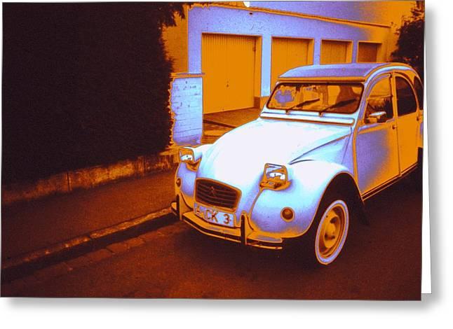German Car Greeting Card by Craig Perry-Ollila