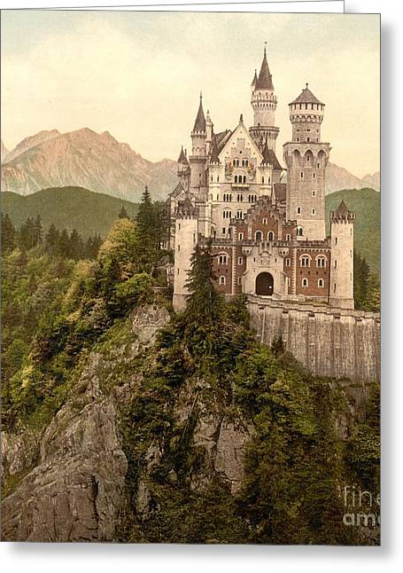 German Castle Neuschwanstein Greeting Card