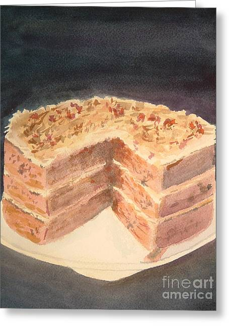 German Chocolate Cake Greeting Card