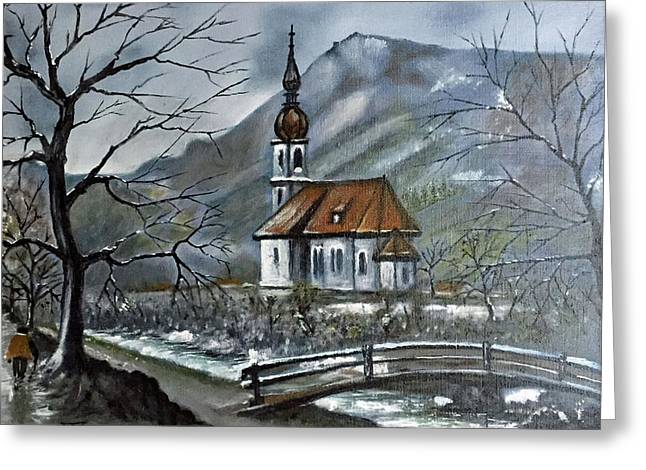 German Church At Ramsau  Greeting Card